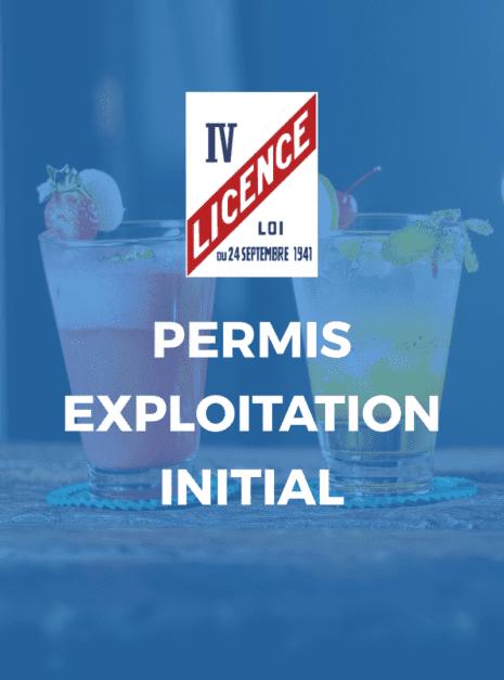 PERMIS EXPLOITATION INITIAL
